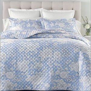 Charter C F/Queen Damask  Quilt Coverlet Bedding